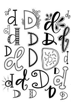 D doodle lettering, doodle fonts, hand lettering alphabet, lettering styl. Doodle Fonts, Doodle Lettering, Creative Lettering, Lettering Styles, Brush Lettering, Hand Lettering Alphabet, Alphabet Art, Calligraphy Letters, Doodle Alphabet