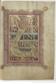 Evangelia [Évangiles de Noailles ou de Charles le Chauve]. -- 850-875 -- manuscrits
