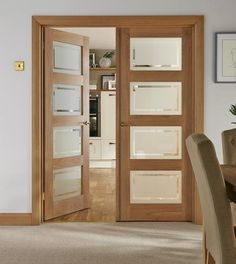4 Panel Oak Shaker Glazed | Internal Hardwood Doors