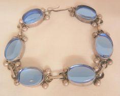 Gorgeous sterling Mexico London blue color glass stone Bracelet Gemstone Jewelry, Jewelry Bracelets, London Blue, Ruby Lane, Stone Bracelet, Artisan Jewelry, Mirrored Sunglasses, Vintage Jewelry, Mexico