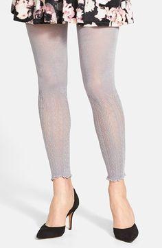 Women's LEMON 'Seastrand' Footless Lace Sweater Tights