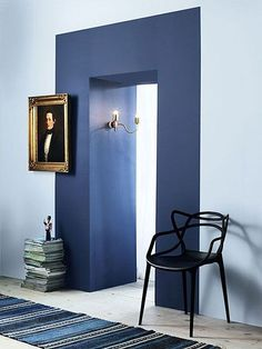 Clever Paint Tricks That Totally Make a Room Clevere Farbtricks, die einen Raum total machen Wohnung Therapie Home Interior, Interior And Exterior, Interior Decorating, Color Interior, Decorating Games, My Living Room, Living Spaces, Chaise Masters, Home And Deco