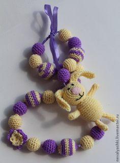 Слингобусы `Зайчик`. Украшение для мам и отличная развивающая игрушка для малышей. Слингобусы могут быть выполнены на заказ в любой цветовой гамме, фантазируйте!