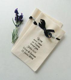 Wedding Favor coton Sacs Calicot/Ribbon-5 X par IzzyandLoll sur Etsy