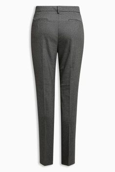 Buy Grey/Black Textured Slim Trousers from the Next UK online shop