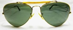 Vintage Ray-Ban B & L Sunglasses Gold plated aviator 1/30 10K  Made in USA