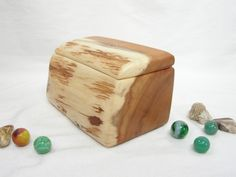 Pacific Yew Wooden Box, Oregon Coast, eco wedding gift, blessing box, wooden jewelry box, wood anniversary gift, office desk organizer by earnestefforts on Etsy