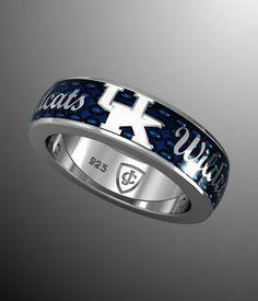 College Jewelry Indiana State University Sycamores Rings Stainless Steel 8MM Wide Ring Band