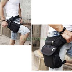 Unisex-Canvas-Travel-Hiking-Military-Hip-Bum-Fanny-Pack-Waist-Leg-Thigh-Drop-Bag