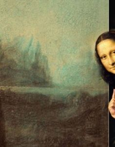 Brus_© I love this Mona Lisa peeking at us from outside the painting. Do you suppose she was a shy women? Look at that smile. Le Sourire De Mona Lisa, Art Magique, La Madone, Mona Lisa Parody, Mona Lisa Smile, Photocollage, Funny Art, Aesthetic Art, Oeuvre D'art