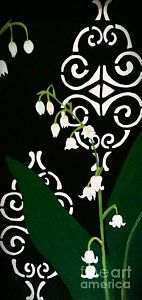 Lily Of The Valley Painting - Lily Of The Valley by LKB Art and Photography