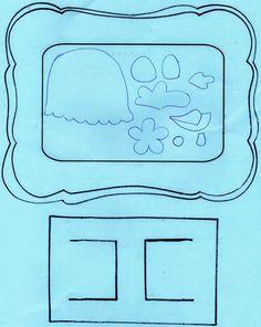 molde  porta retrato da galinha pintadinha