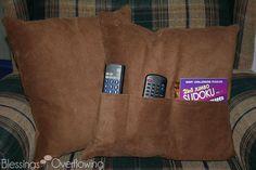 Remote Control Pocket Pillow Tutorial