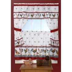 better homes and gardens cafe au lait 60x36 kitchen window curtain