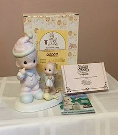 Precious Moments #522325 vintage figurine SOMEBODY CARES  1998 w/box and authentication cards by Cachebuster on Etsy