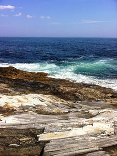 "My first look a ""rocky"" beach in Maine was amazing. I expected rocks, not whole slabs of rock."