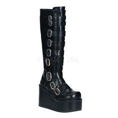 Demonia Buckled Knee Boots :: VampireFreaks Store :: Gothic Clothing, Cyber-goth, punk, metal, alternative, rave, freak fashions