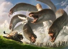 Now that's just cool.  Apocalypse Hydra (Source: jasonchanart.blogspot.com)