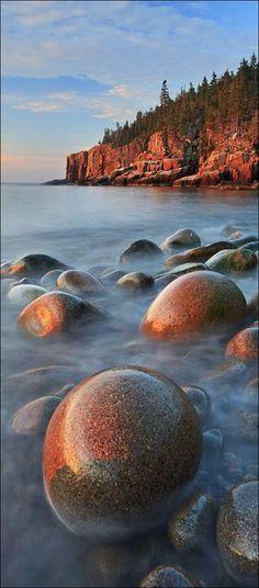Otter Cliffs-Yin Yang,Acadia National Park,Maine..