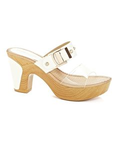 Look what I found on #zulily! White & Clear Platform Sandal by Henry Ferrera #zulilyfinds