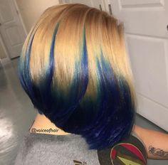 Bomb colors on this bob by KBB Salon  https://linktr.ee/voiceofhair