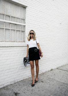 Photo: Sania //T-shirt J.Crew//Skirt Zara//Bag Chanel//Shoes Tabihta Simmons//
