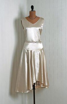 pretty champagne cocktail dress