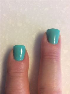 Poetry cowgirl experiment index finger and middle both have base coat. Index finger has 3 coats of Jade. Middle finger has 1 coat of Enchanted Polish January 2016 mystery polish-an opaque nude- and two coats of Jade.,