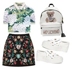 """nabila style"" by ria-werakari on Polyvore featuring Dolce&Gabbana, Marc Jacobs and Moschino"
