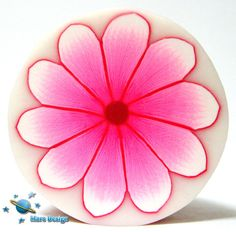 Polymer clay cane PINK DAISY flower  cane  by Mars by marsdesign,