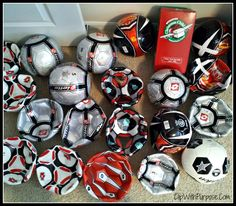 include soccer ball and pump in box (links to sites with good deals and also recommendations on sizes)