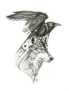 Wolf Raven:::Together we survive the Winter