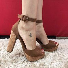 salto alto sandália meia pata feminina - frete grátis!