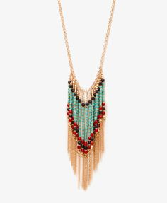 Beaded Fringe Necklace #smpliving