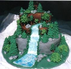 Example of Cake with waterfall