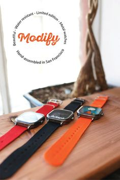 Every timepiece you purchase supports an artist, musician, non-profit or influencer. Modify Watches is a playful yet elegant timepiece for those who want to wear their passion.