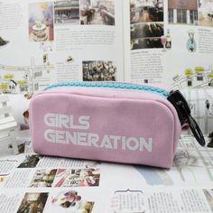 Girls Generation SNSD K-Pop Famous Girls Group Cool Pink Pencil Case  #Girls #Generation #SNSD #KPop #Famous #Girls #Group #Cool #Pink #Pencil #Case