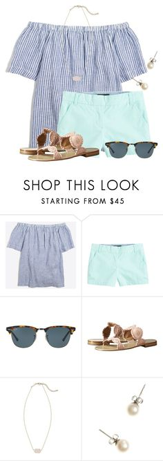 """""""TODAY IS MY 16th BIRTHDAY!❤"""" by flroasburn ❤ liked on Polyvore featuring J.Crew, Ray-Ban, Jack Rogers and Kendra Scott"""