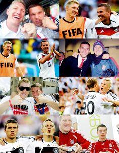 Lukas Podolski y Bastian Schweinsteiger