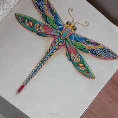 Johanna Basford | Colouring Gallery - Enchanted Forest - dragonfly More
