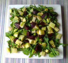 Beet, Avocado, and Arugula Salad with Sunflower Seeds