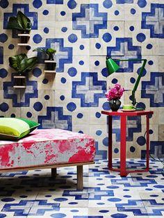 Summer Timber wall tiles from Bonnie & Neil. Through Emily Ziz