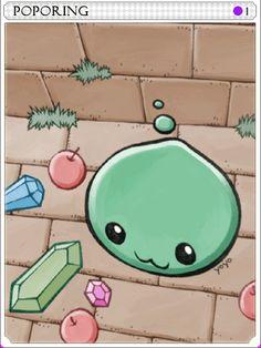 PoPoring Card Ragnarok Card, Mundo Nerd, Paper Toys, Best Games, Yoshi, Game Art, Cross Stitch, Stickers, Cute