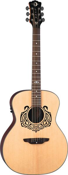 Luna Guitars - Celtic Swan A/E Guitar   ***want to try scetching the Celtic Swan...that's pretty!