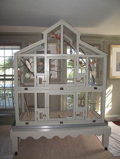 My canaries have been living in this grand cage for several years and ., The bird cage is both a property for your birds and a decorative tool. You can choose what you may want among the bird cage models and get a whole lot more unique images. Bird Cage Design, Diy Bird Cage, Bird Cages, Canary Cage, Finch Cage, Parakeet Cage, Canary Birds, Bird Aviary, Pet Cage
