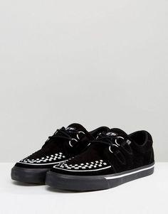 55ec42a0cc36 T.U.K Suede Creeper Shoes - Black Sorte Sko