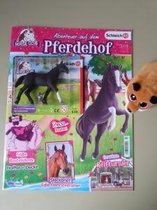 Abenteuer auf dem Pferdehof, Schleich, Pferd, Sammelfigur, Zeitschrift, Fohlen