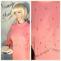 Vintage 1970's Miss Rubette Pink Sheer and by Stylishiddentreasure