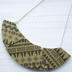 Wooden Aztec Navajo Necklace