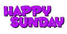 Happy Sunday Purple Glittering Image